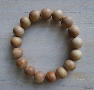 ručně vyrobený náramek Santalové dřevo z Jávy 12 mm