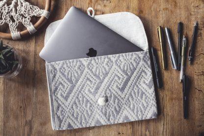 ručně tkaná taška Grey 11″ z bavlněné příze