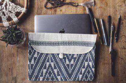 ručně tkaná taška Dark Grey 11″ z bavlněné příze