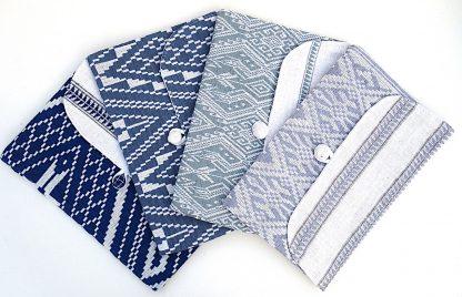ručně tkané taštičky na notebooky z bavlněné příze různé barvy