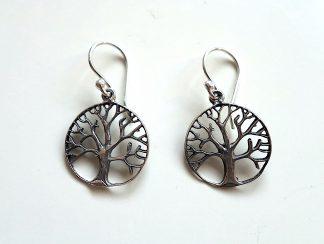 stříbrné náušnice Strom života 3 cm z ryzího stříbra