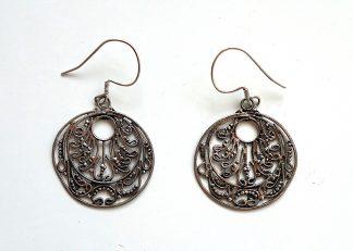 stříbrné náušnice 4,3 cm z ryzího stříbra