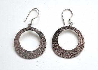 stříbrné náušnice Kruhy 4,2 cm z ryzího stříbra