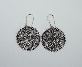 stříbrné náušnice Flowers 4,5 cm z ryzího stříbra