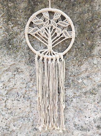 ručně vyrobený lapač snů drhaný strom života 77 cm