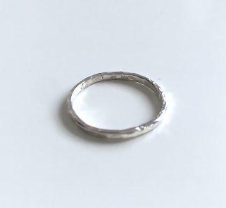 stříbrný prstýnek Melting