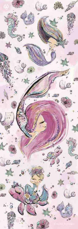 protiskluzová jógová podložka Be Mermaid