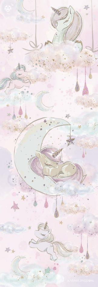 protiskluzová jógová podložka Fluffy Unicorns