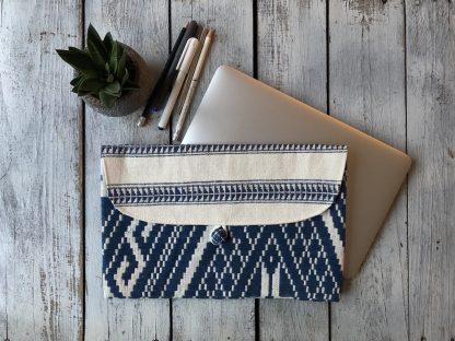 ručně tkaná taška Midnight 12″ z bavlněné příze