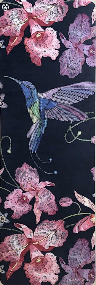 protiskluzová jógová podložka Japanese Garden blue