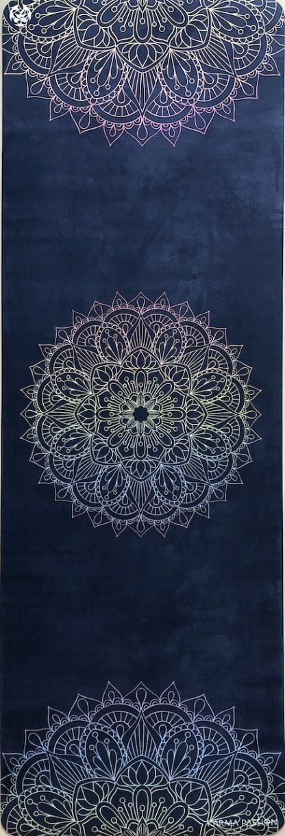 protiskluzová jógová podložka Mandala 7 Chakras blue