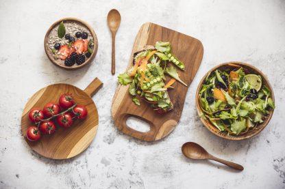 přírodní nádobí z teakového dřeva