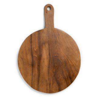 přírodní servírovací špalek z teakového dřeva