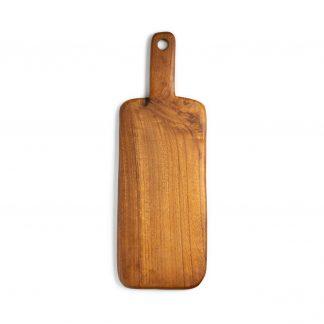 přírodní prkénko z teakového dřeva rovné