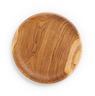 přírodní talíř z teakového dřeva velký