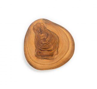 přírodní podtácek z teakového dřeva