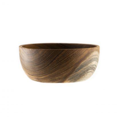 přírodní miska z teakového dřeva malá detail