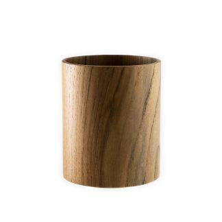 přírodní hrnek z teakového dřeva velký