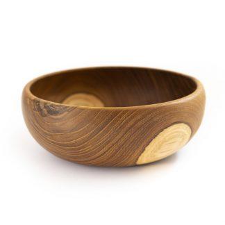 přírodní mísa z teakového dřeva na salát velká