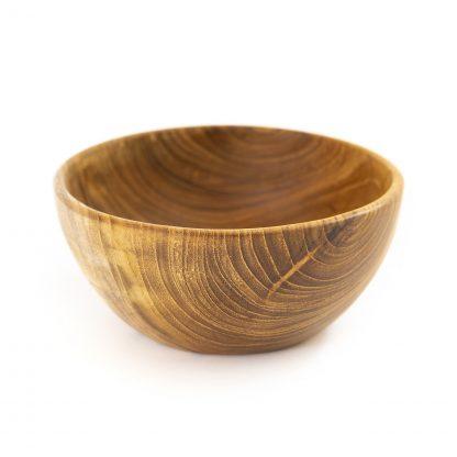 přírodní miska z teakového dřeva na smoothie bowl