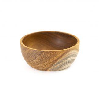 přírodní miska z teakového dřeva malá