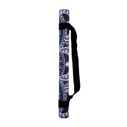 cestovní protiskluzová jógová podložka Mandala Grey 1 mm s popruhem