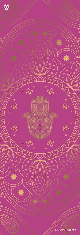 protiskluzová jógová podložka Hamsa Lila design