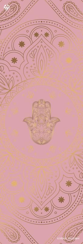 protiskluzová jógová podložka Hamsa nude design