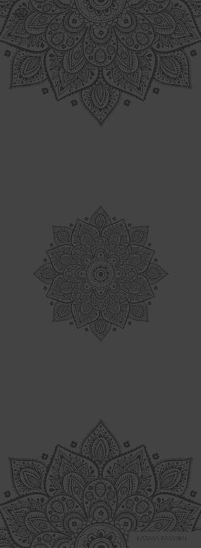profesionální ultra protiskluzová jógová podložka Mandala Dark Night design