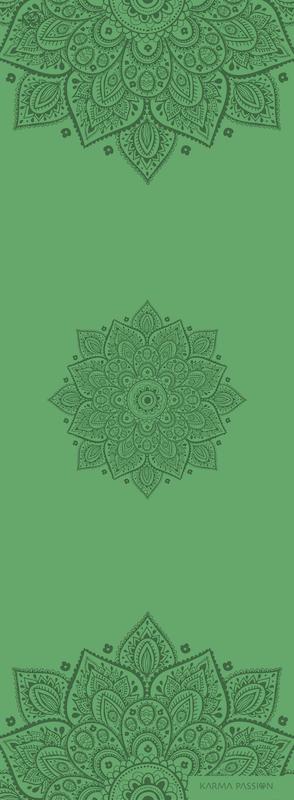 profesionální ultra protiskluzová jógová podložka Mandala Rice Fields design