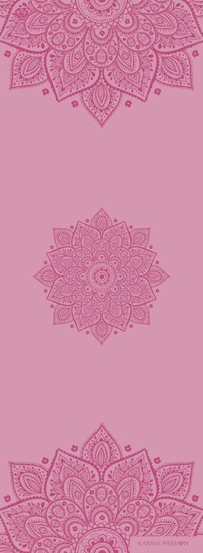 profesionální ultra protiskluzová jógová podložka Mandala Girly design