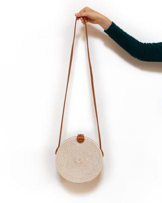 ručně upletená dámská ratanová kabelka Melasti