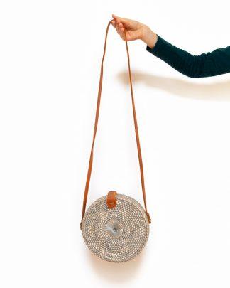 ručně vyrobená dámská ratanová kabelka Bingin