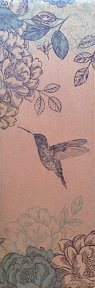korková protiskluzová ekologická jógová podložka Spring Love