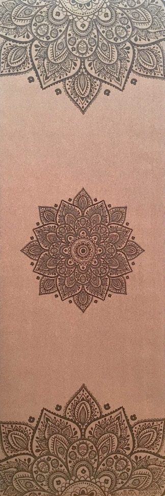 korková protiskluzová ekologická jógová podložka Mandala