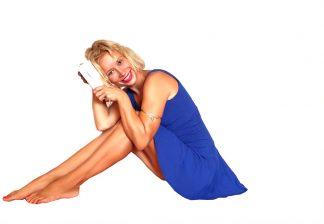 modré jógové šaty Royal Blue by Judita Berková