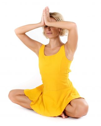 žluté jógové šaty Spring in my Soul